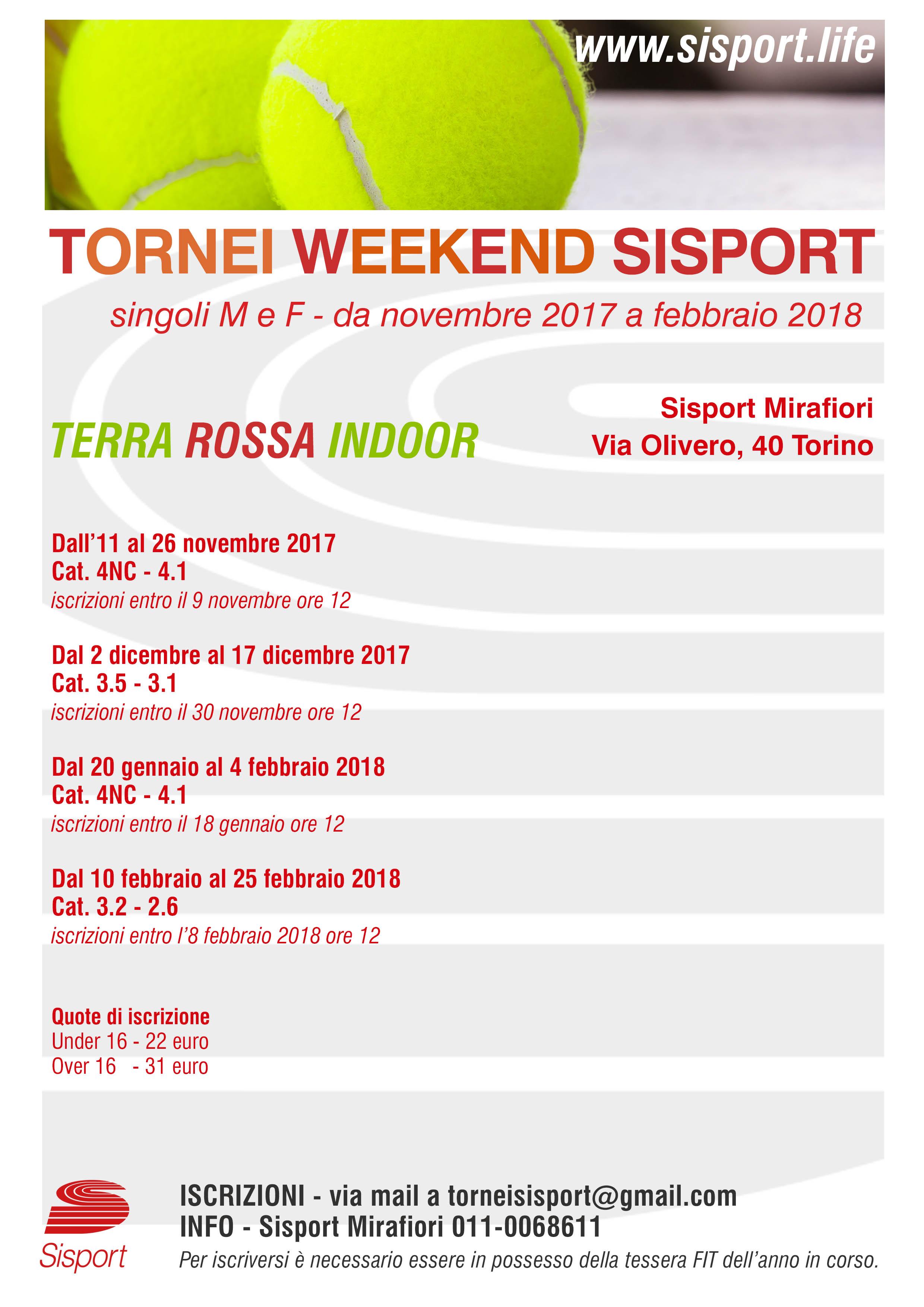 Fit Calendario Tornei.Sisport Tornei Weekend Sisport